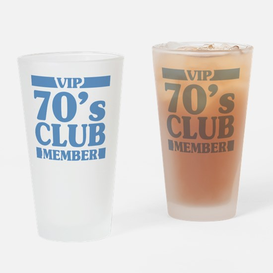 VIP Member 70th Birthday Drinking Glass