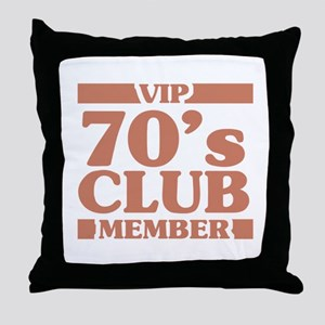 VIP Member 70th Birthday Throw Pillow