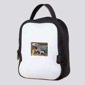 african grey parrot Neoprene Lunch Bag
