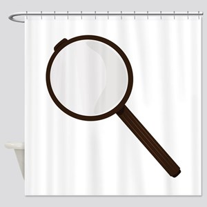 Magnifying Glass Shower Curtain