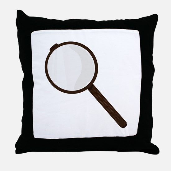 Magnifying Glass Throw Pillow