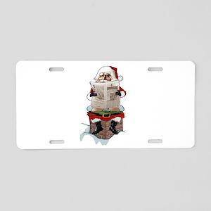 "Santa Claus ""Party Pooper"" Aluminum License Plate"