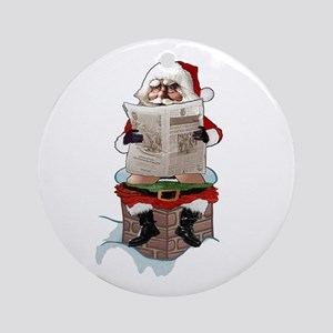"Santa Claus ""Party Pooper"" Christ Ornament (Round)"