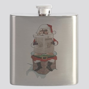 "Santa Claus ""Party Pooper"" Christmas Flask"