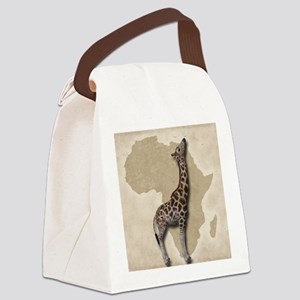 Out of Africa Giraffe Canvas Lunch Bag