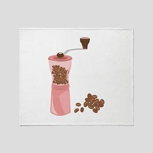 Coffee Grinder Throw Blanket