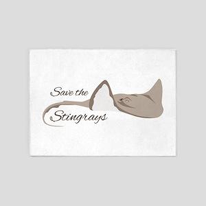 Save the Stingrays 5'x7'Area Rug