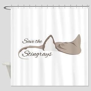 Save the Stingrays Shower Curtain
