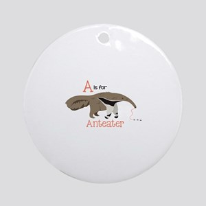 A is for Anteater Ornament (Round)