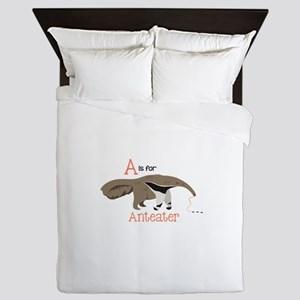 A is for Anteater Queen Duvet