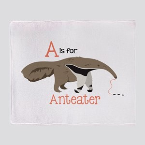 A is for Anteater Throw Blanket