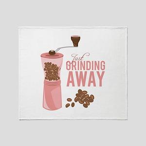 Grinding Away Throw Blanket