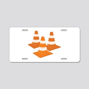 Traffic Cones Aluminum License Plate