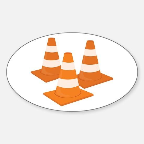 Traffic Cones Decal