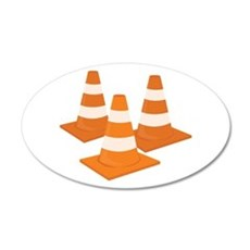 Traffic Cones Wall Decal