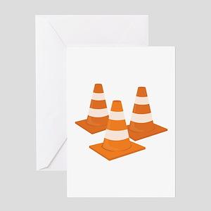 Traffic Cones Greeting Cards