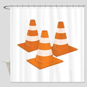 Traffic Cones Shower Curtain