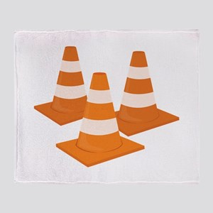 Traffic Cones Throw Blanket