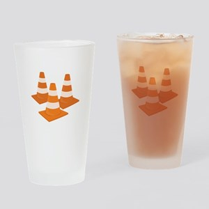 Traffic Cones Drinking Glass