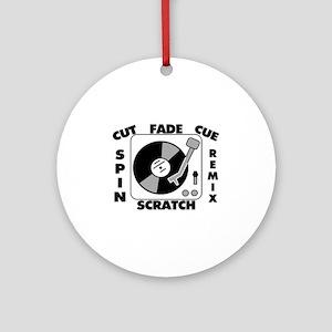 Turntable Record DJ Speak Ornament (Round)