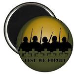 "Lest We Forget Remembrance 2.25"" Magnet (10 pack)"