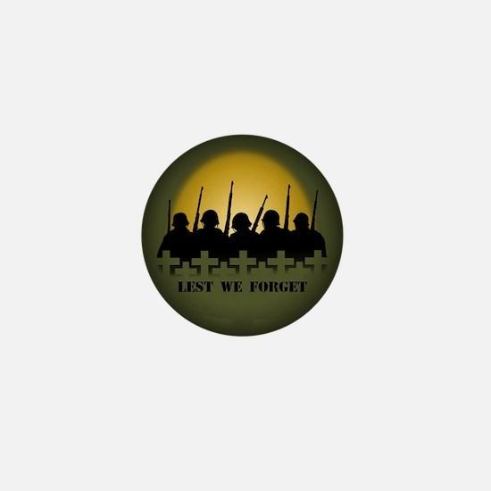 Remembrance Day Mini Button Pin War & Peace