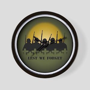 War Memorial Wall Clock Lest We Forget