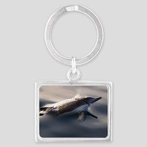 Dolphin Gaze Landscape Keychain
