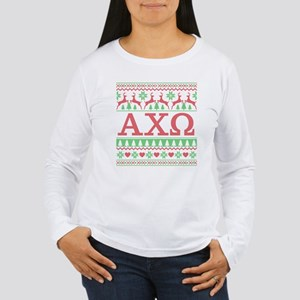 Alpha Chi Omega Ugly C Women's Long Sleeve T-Shirt