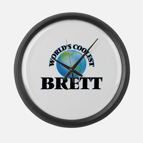 World's Coolest Brett Large Wall Clock