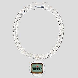 Retro I Heart Veep Charm Bracelet, One Charm