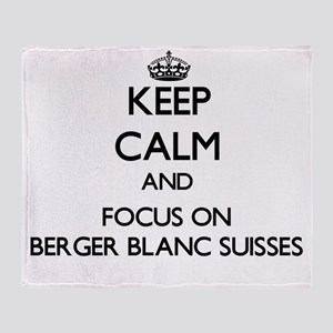 Keep calm and focus on Berger Blanc Throw Blanket