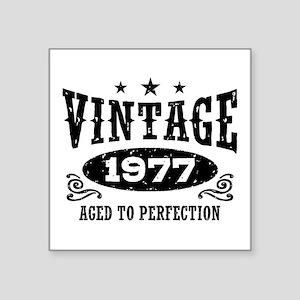 "Vintage 1977 Square Sticker 3"" x 3"""