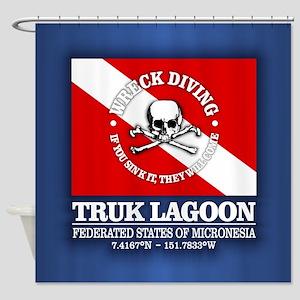 Truk Lagoon Shower Curtain