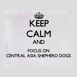 Keep calm and focus on Central Asia Throw Blanket