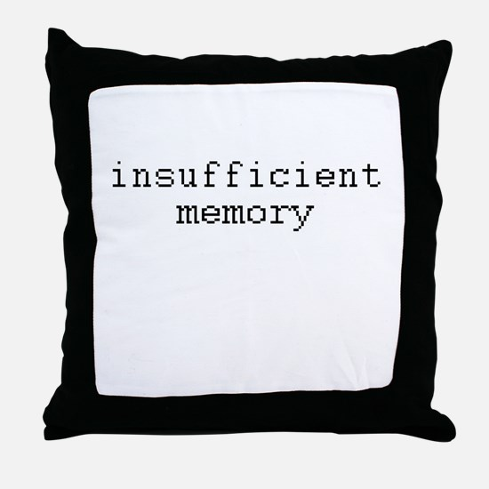insufficient memory Throw Pillow