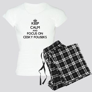 Keep calm and focus on Cesk Women's Light Pajamas