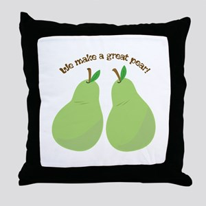 A Great Pear Throw Pillow