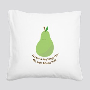 Pear A Day Square Canvas Pillow