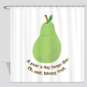 Pear A Day Shower Curtain