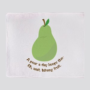 Pear A Day Throw Blanket
