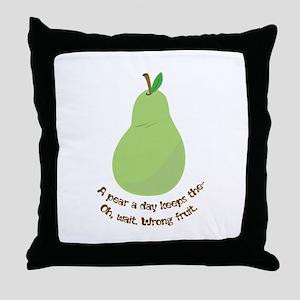 Pear A Day Throw Pillow