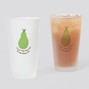 Pear A Day Drinking Glass
