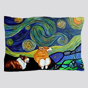 Corgi Starry Starry Night Pillow Case