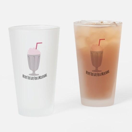 A Milkshake Drinking Glass