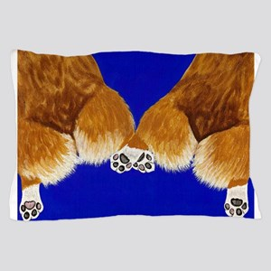 A tail of two corgis Pillow Case