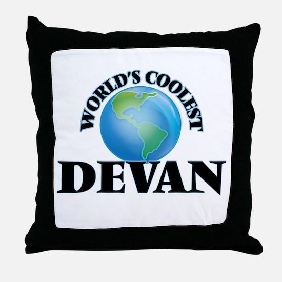 World's Coolest Devan Throw Pillow