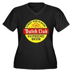 Dutch Club Beer-1952 Women's Plus Size V-Neck Dark