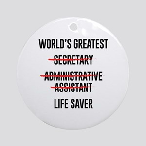 World's Greatest Life Saver Round Ornament
