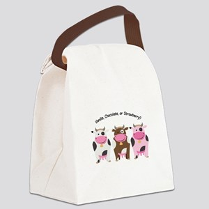 Milk Flavors Canvas Lunch Bag